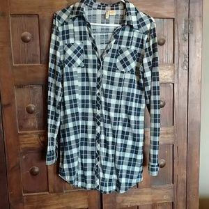 Flannel tunic